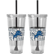 Boelter Detroit Lions Bold Sleeved 22oz Straw Tumbler 2-Pack