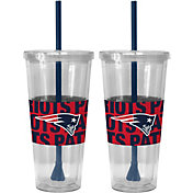 Boelter New England Patriots Bold Sleeved 22oz Straw Tumbler 2-Pack