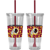 Boelter Washington Redskins Bold Sleeved 22oz Straw Tumbler 2-Pack