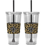 Boelter New Orleans Saints Bold Sleeved 22oz Straw Tumbler 2-Pack