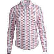 Bette & Court Women's Cool Elements Print Long Sleeve Golf Polo
