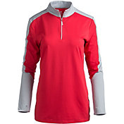 Bette & Court Women's Cool Elements Eclipse Colorblock Long Sleeve Golf Polo