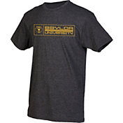 boxercraft Men's Baylor Bears Grey Just for You Crew Block Wordmark and Logo T-Shirt