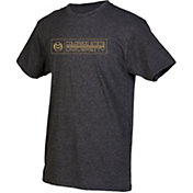 boxercraft Men's Colorado State Rams Grey Just for You Crew Block Wordmark and Logo T-Shirt