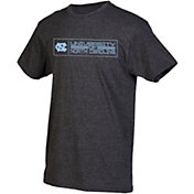 boxercraft Men's North Carolina Tar Heels Grey Just for You Crew Block Wordmark and Logo T-Shirt