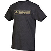 boxercraft Men's Navy Midshipmen Grey Just for You Crew Block Wordmark and Logo T-Shirt