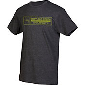 boxercraft Men's Portland State Vikings Grey Just for You Crew Block Wordmark and Logo T-Shirt