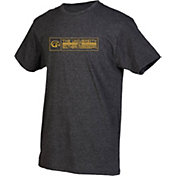 boxercraft Men's Southern Miss Golden Eagles Grey Just for You Crew Block Wordmark and Logo T-Shirt