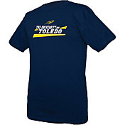 boxercraft Men's Toledo Rockets Midnight Blue Just for You Crew Wordmark and Logo T-Shirt