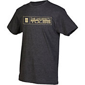 boxercraft Men's Tulsa Golden Hurricane Grey Just for You Crew Block Wordmark and Logo T-Shirt