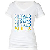 boxercraft Women's Buffalo Bulls Perfect Fit V-Neck White T-Shirt