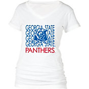 boxercraft Women's Georgia State Panthers Perfect Fit V-Neck White T-Shirt