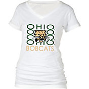 boxercraft Women's Ohio Bobcats Perfect Fit V-Neck White T-Shirt