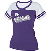 boxercraft Women's Kansas State Wildcats Purple/White Powder Puff T-Shirt
