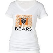 boxercraft Women's Mercer Bears Perfect Fit V-Neck White T-Shirt