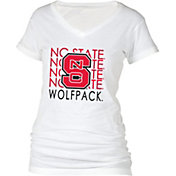 boxercraft Women's NC State Wolfpack Perfect Fit V-Neck White T-Shirt