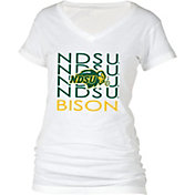 boxercraft Women's North Dakota State Bison Perfect Fit V-Neck White T-Shirt