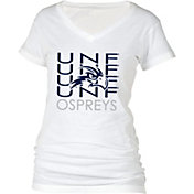 boxercraft Women's North Florida Ospreys Perfect Fit V-Neck White T-Shirt