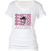 boxercraft Women's New Mexico State Aggies Perfect Fit V-Neck White T-Shirt