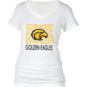 boxercraft Women's Southern Miss Golden Eagles Perfect Fit V-Neck White T-Shirt