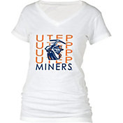 boxercraft Women's UTEP Miners Perfect Fit V-Neck White T-Shirt