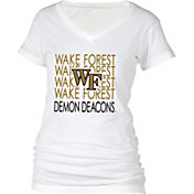 5th & Ocean Women's Wake Forest Demon Deacons Black Scoop Neck T-Shirt