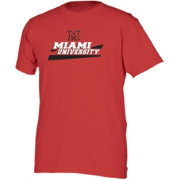 boxercraft Youth Miami Redhawks Red Just for You Crew Wordmark and Logo T-Shirt