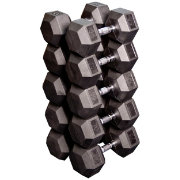 Body Solid Rubber Hex 55-75 lb Dumbbell Set