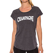 Betsey Johnson Performance Women's Champagne Acid Wash Wedge T-Shirt