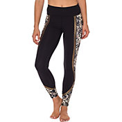 Betsey Johnson Performance Women's Metallic Print Block Leggings