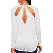 CALIA by Carrie Underwood Women's Cutout Heather Long Sleeve Shirt