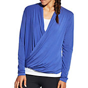 CALIA by Carrie Underwood Women's Plus Size Front Wrap Long Sleeve Shirt