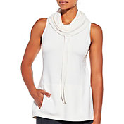 CALIA by Carrie Underwood Women's Cowl Neck Sleeveless Hoodie