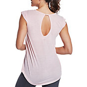 CALIA by Carrie Underwood Women's Plus Size Flutter Sleeve T-Shirt