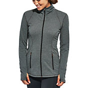 CALIA by Carrie Underwood Women's Plus Size Essential Herringbone Fitness Jacket