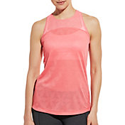 CALIA by Carrie Underwood Women's Jacquard Mesh Tank Top