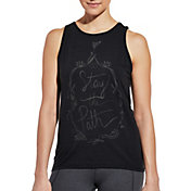 CALIA by Carrie Underwood Women's Loop Back Stay The Path Graphic Tank Top