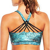CALIA by Carrie Underwood Women's Inner Power Strappy Low Neck Printed Sports Bra