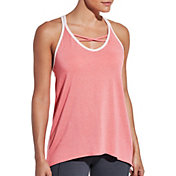 CALIA by Carrie Underwood Women's Strappy Front Neck Tank Top