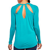 CALIA by Carrie Underwood Women's Plus Size Cutout Long Sleeve Shirt