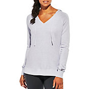 CALIA by Carrie Underwood Women's Plus Size Heather Effortless Ribbed Hoodie