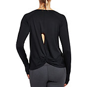 CALIA by Carrie Underwood Women's Twist Back Crewneck Long Sleeve Shirt
