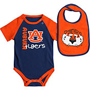 Colosseum Athletics Infant Auburn Tigers Blue/Orange Rookie Onesie and Bib Set