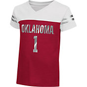 Colosseum Athletics Toddler Girls' Oklahoma Sooners Cardinal Nickel T-Shirt
