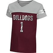 Colosseum Athletics Toddler Girls' Mississippi State Bulldogs Maroon Nickel T-Shirt