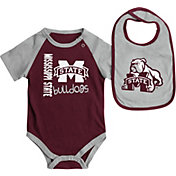 Colosseum Athletics Infant Mississippi State Bulldogs Maroon/Grey Rookie Onesie and Bib Set