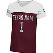 Colosseum Athletics Toddler Girls' Texas A&M Aggies Maroon Nickel T-Shirt