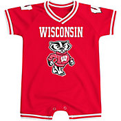 Colosseum Athletics Infant Wisconsin Badgers Red Super Fan II Onesie