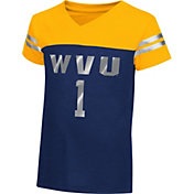 Colosseum Athletics Toddler Girls' West Virginia Mountaineers Blue Nickel T-Shirt