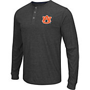 Colosseum Athletics Men's Auburn Tigers Charcoal Long Sleeve Henley T-Shirt